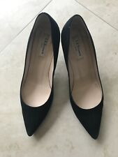LK Bennett Black Suede Court Shoes Eur41 (UK7.5)