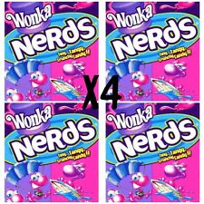 4 x Wonka Nerds - Grape & Strawberry Candy Party Favors Sweets Bulk Lollies