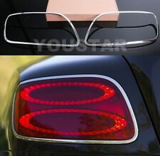 US STOCK 12-18 CHROME Rear Light Trims for Bentley Continental GT GTC SPEED