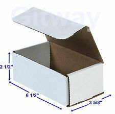 6 12 X 3 58 X 2 12 Small White Cardboard Packaging Mailing Shipping 50 Boxes