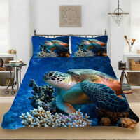 Corallite Sea Turtle Single/Double/Queen/King Bed Quilt Doona Duvet Cover Set