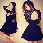 Womens Lace Short/Mini Cocktail Dress Party Homecoming Formal Bridesmaid Dress