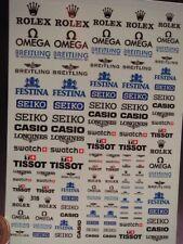 DECALS 1/43 au 1/18 ROLEX BREITLING FESTINA SEIKO CASIO TISSOT OMEGA T318