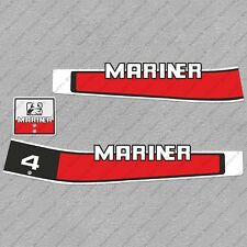 Mariner 4 hp Two Stroke outboard engine decals sticker set reproduction 4HP 80's
