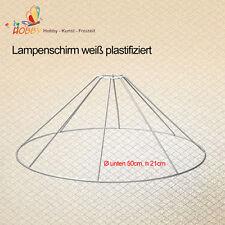 Lampenschirm weiß plastifiziert Ø unten 50cm, h 21cm