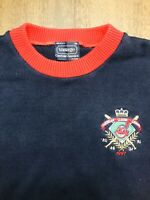VTG 97 Mens Cleveland Indians American League Champs Navy Red Sweater Sz L USA