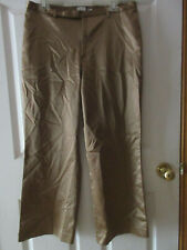 GAP Womens Size 12 Gold Cropped Pants Satin Feel