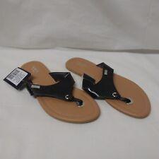 375f917302446 Chaps Thong Sandal Shoes Flip Flops Black 5-6