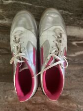 Adidas Indoor Court Soccer Shoes Pink Women's Shoe White 10