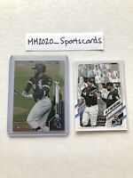 Luis Robert Topps Lot (2) 2020 Chrome RC Rookie Debut #U-58 & 2021 #14 White Sox