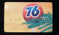 Union Oil Company 76 Gasoline credit card exp 1973♡Free Shipping♡cc571