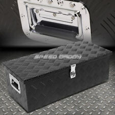 "30""X13""X10"" BLACK ALUMINUM PICKUP TRUCK TRUNK BED TOOL BOX TRAILER STORAGE+LOCK"