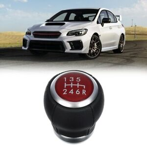 6 Spd Shift Gear Knob For Subaru Impreza WRX 15-19 STI Liberty Forester BRZ JDM