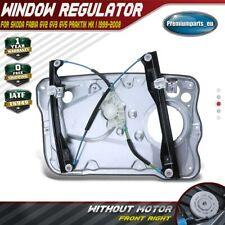 Window Regulator W/o Motor W/ Panel for Skoda Fabia I Praktik 99-08 Front Right
