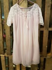 Vintage Sexy Open Front Pink Sheer Night Gown