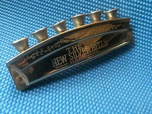 VINTAGE KOH-I-NOOR THE NEW SILVER BELLS HARP HARMONICA MADE IN GERMANY