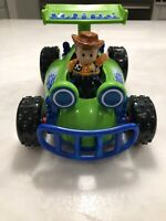Fisher Price Little People Disney Toy Story Talking RC Race Car & Woody Figure