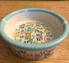 """Euc 5"""" Ceramic Cat Pet Bowl Dish in Multicolored Pastel Cats, food dish, pet"""