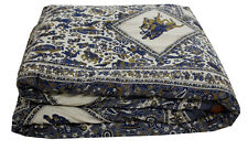 INDIAN NEW ETHNIC DUVET COVER COTTON COMFORTER SCREEN PRINTED BED SPREAD DECORat