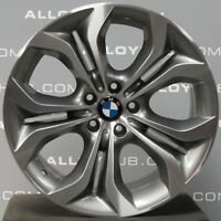 "GENUINE BMW X6 E71 E72 336 M SPORT 20"" INCH GREY SINGLE REAR ALLOY WHEEL X1"