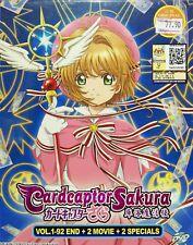 CARDCAPTOR SAKURA - COMPLETE ANIME TV SERIES DVD (1-92 EPIS + 2 MOVIE + 2 SP )