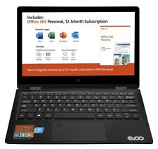 EVOO 11.6 Convertible Touchscreen Laptop Windows 10 32gb Storage Mini HDMI