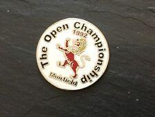 1992 BRITISH OPEN MUIRFIELD Logo GOLF BALL MARKER New Flat Coin NICK FALDO