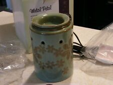 "Scentsy ""Metal Petal"" Wax Warmer NIB Retired  box opened, NO BULB"
