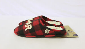 Dearfoams Women's Buffalo Check Clog Slippers CD4 Red Size US:9-10