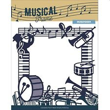 """FIND-IT MEDIA MUSICAL FRAME 5 x 5"""" DIE SET WITH MUSICAL NOTES & INSTRUMENTS"""