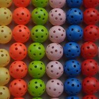 50pcs Hollow Plastic Practice Golf Balls Golf Wiffle Balls Air Flow Balls