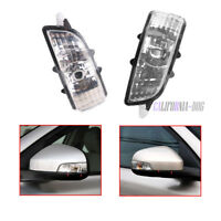 Pair L + R Wing Mirror Indicator Lens Light Lamp For Volvo S40 V50 C30 S60 V70