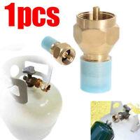 1pc Propane Refill Brass Adapter LP Gas 1 Lb Cylinder Tank Coupler Heater Bottle