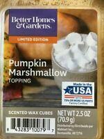 New! Better Homes & Gardens Wax Fragrance Cubes PUMPKIN MARSHMALLOW. FREE Ship!
