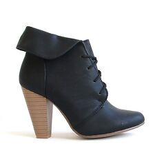 Stiefeletten Schwarz 36 Damenschuhe Halbschuhe Boots Pumps High Heels 9639A