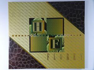 1995 $50 Banknote and Pane of 10 Stamps Howard Florey Black Serial Numbers