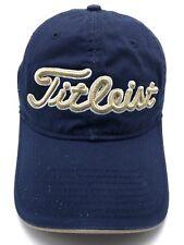 TITLEIST blue adjustable cap / hat - 100% cotton - PRO V1 FJ  booth