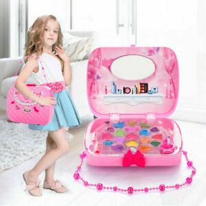 New Girls Make Up Set Children Play Beauty Makeup Cosmetics Set Carry Case Gift