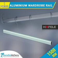 1500mmX30mm Aluminium Wardrobe Rail Silver Anodized Oval, hangs clothes