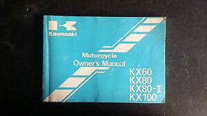 Kawasaki KX100 KX80 KX60 b14 w1 x1 y1 z1 c1 Owners Manual 1998