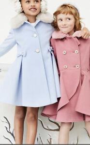 monsoon Twirl ruffle coat pink Coat 7-8Yrs Heigh 122-128 Cm