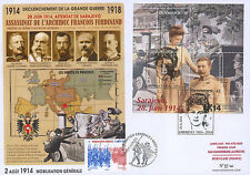 "Maxi FDC AUSTRIA-FRANCE ""Attack Sarajevo Centenary Great War"" (Artstetten) 2014"