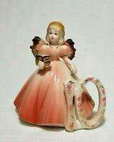 "Josef Originals Angel Girl Birthday Age 10 My Hero Book 5"" ~ Ceramic"