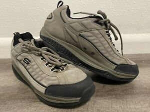 Skechers Mens Shape Ups Toning 10.5 Walking Sneakers Gray 52000 Lace Up Shoes