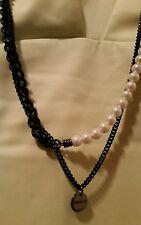 BNWT Mimco Black chain & perls  Choker Necklace Collar R.R.P $ 129.00 Brand New