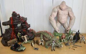 Huge bundle of Rampage The Movie toys inc. George & Lizzie the crocodile