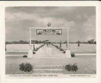WWII 1940's Official USMC Marine Cemetery Photo 6th  Div Okinawa