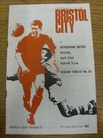 22/04/1966 Bristol City v Rotherhan United  (rusty staple). Thanks for viewing t