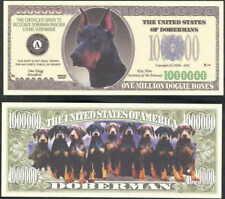 Lot Of 25 Bills-Doberman Dog Million Dollar Paper Money
