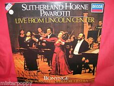 SUTHERLAND HORNE PAVAROTTI Live from Lincoln Center Double LP 1981 ITALY MINT-